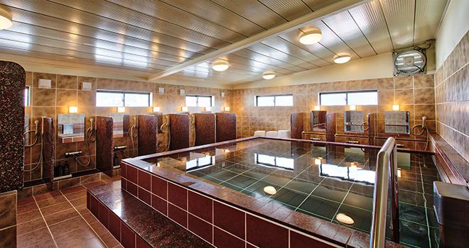 沖縄では珍しい無料大浴場