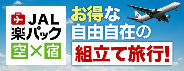 お得な自由自在の組立て旅行 JAL楽パック空×宿